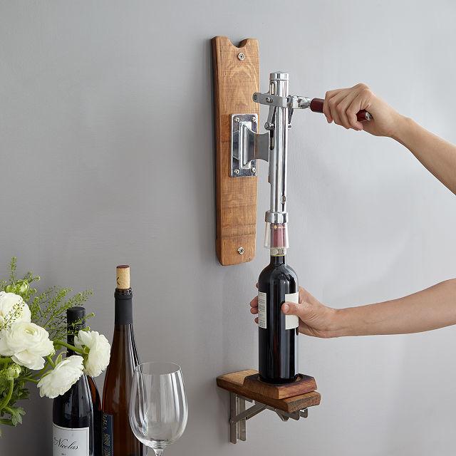 Wall Mounted Wine Openers Barrel One Pull Bottle Opener
