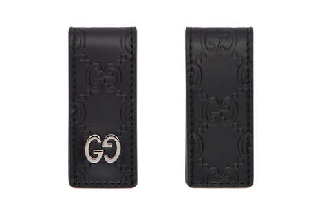 Designer Leather Money Clips