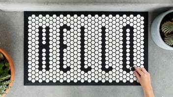 Color-Blocked Customizable Doormats
