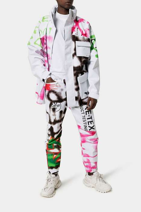 Graffiti-Adorned Luxe Ski Apparel