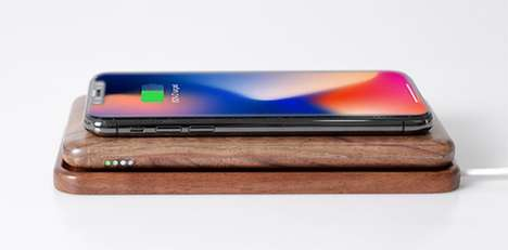 2-in-1 Wooden Wireless Chargers