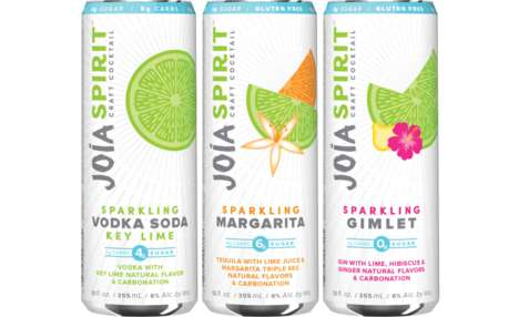 Convenient Low-Sugar Sparkling Cocktails