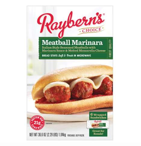 Microwaveable Meatball Sandwiches