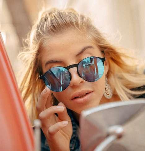 GPS-Enabled Folding Sunglasses