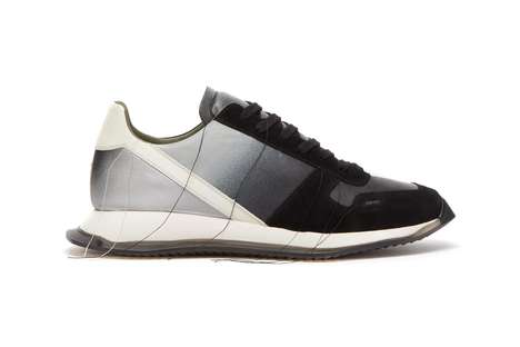 Premium Leather Gradient Sneakers