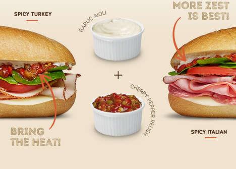 Spicy Deli Meat Sandwiches