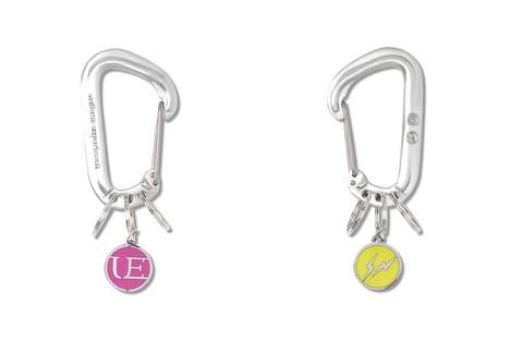 Decorative Keyring-Attached Carabiners