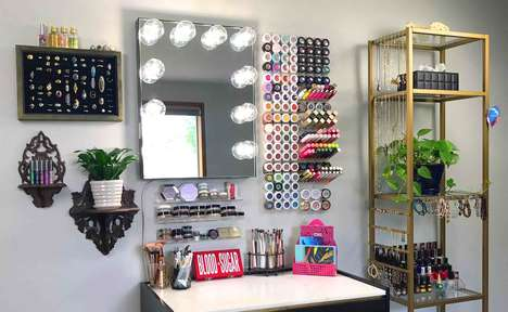 Wall-Mounted Makeup Organizers
