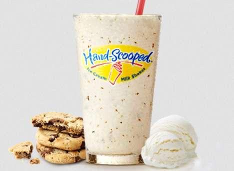 Cookie-Infused Vanilla Shakes