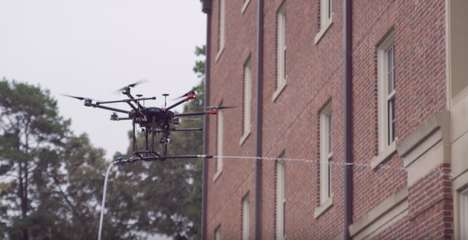 Building-Cleaning Drones
