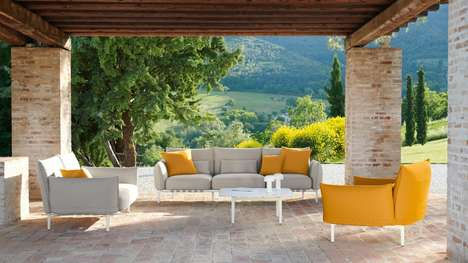 Yellow-Accented Modular Outdoor Furniture