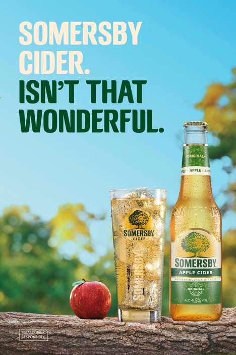 Positivity-Focused Cider Campaigns