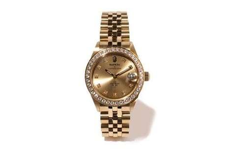 Streetwear-Informed Golden Timepieces