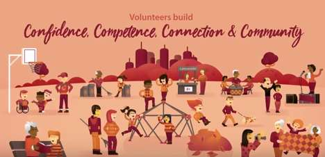 Volunteer-Celebrating Animated Ads
