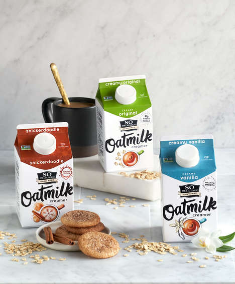 Dairy-Free Oat-Based Creamers