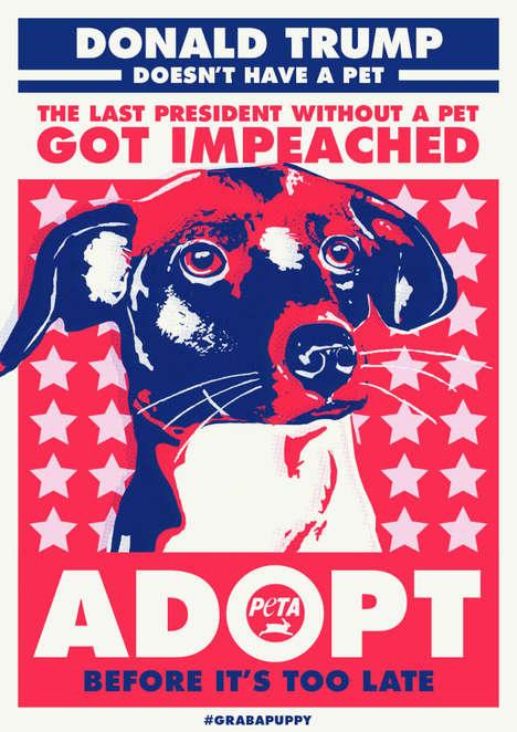 Political Pet Adoption Campaigns