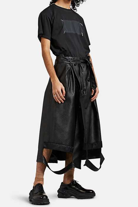 Trench Coat-Inspired Luxe Shorts