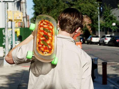 Pizza-Embedded Skateboards
