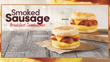 Smokey Sausage Breakfast Sandwiches