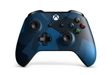 Blue Camo Gaming Controllers