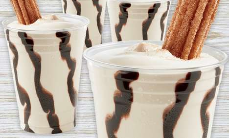 Dippable Churro Milkshakes