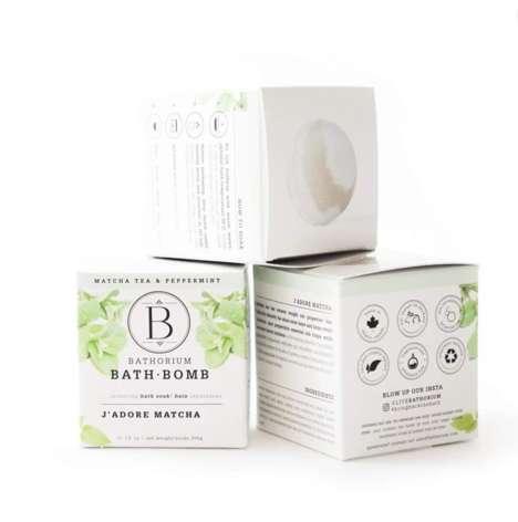 Organic Matcha-Infused Bath Bombs