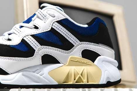Mesh Paneling Archival Sneakers