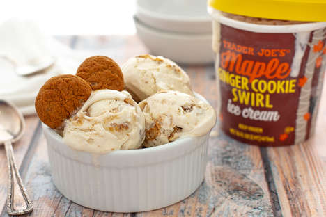 Autumnal Cookie Ice Creams
