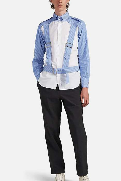 Luxe Harnessed Button-Up Shirts