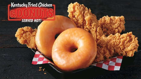Donut-Paired Fried Chicken
