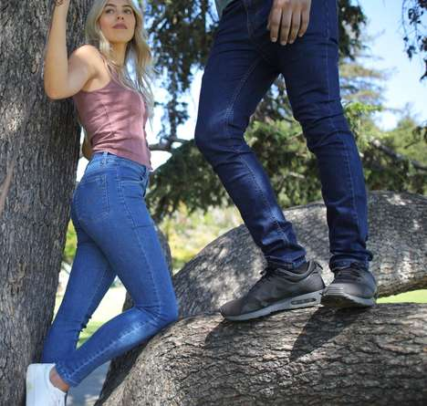Recycled Plastic Bottle Jeans