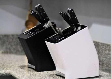 Utensil-Sterilizing Knife Blocks