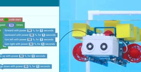 Aquatic Child-Friendly Coding Robots