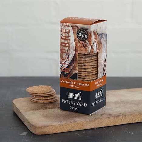 Wafer-Thin Sourdough Crackers