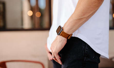 Durable Full-Leather Smartwatch Straps