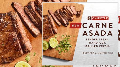Premium Steak Burrito Options