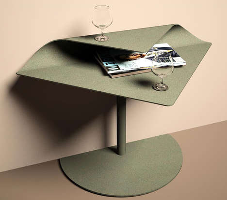 Folded Wave-Inspired Side Tables