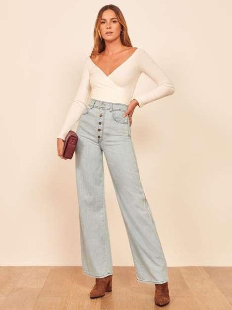 Figure-Flattering Flare Jeans