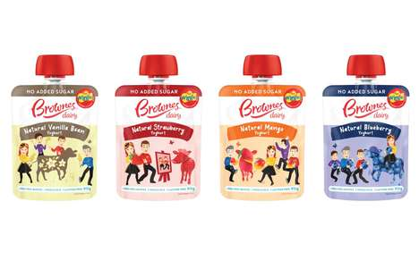 Pouch-Packaged Youth Yogurts