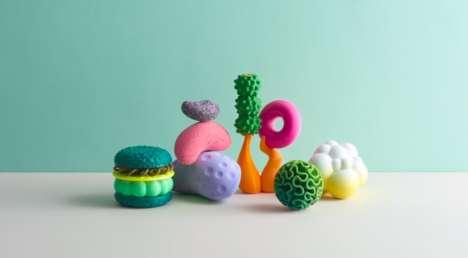 Futuristic Printed Food Toys