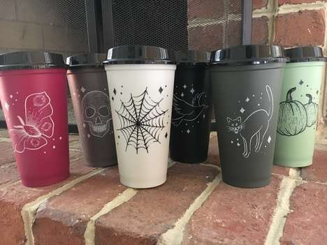 Halloween-Themed Reusable Tumblers