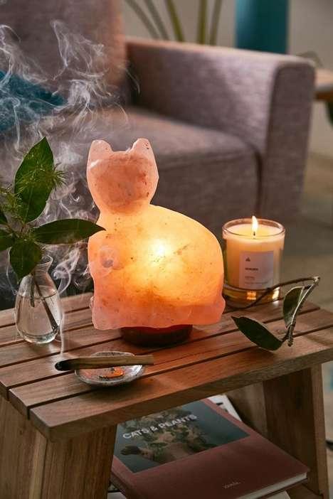 Cat-Shaped Salt Lamps