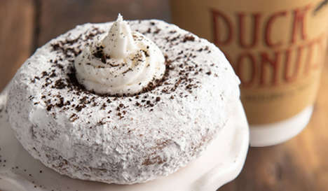 Coffee Grounds-Topped Donuts