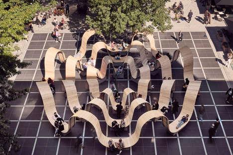 Wavy Public Square Seating