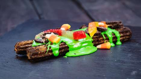 Slime-Covered Chocolate Churros