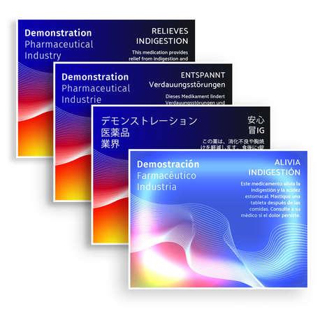 Self-Translating Pharmaceutical Labels