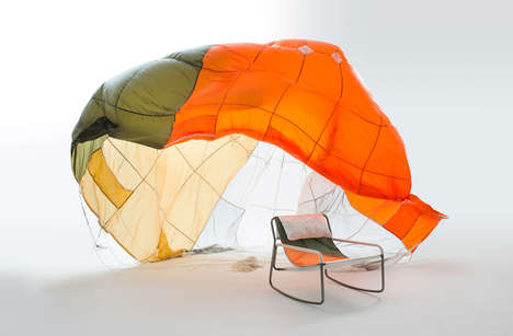 Recycled Parachute Chairs