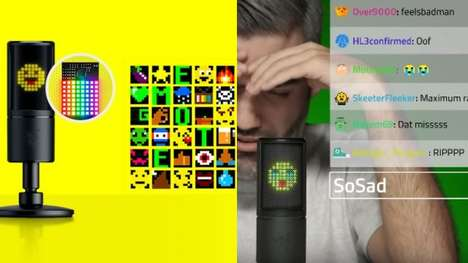 Reactive Emoticon-Displaying Microphones