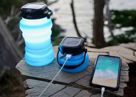 Solar Device-Charging Water Bottles