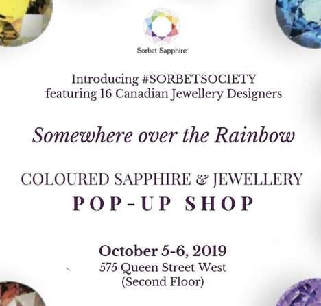 Sapphire-Inspired Jewelry Pop-Ups